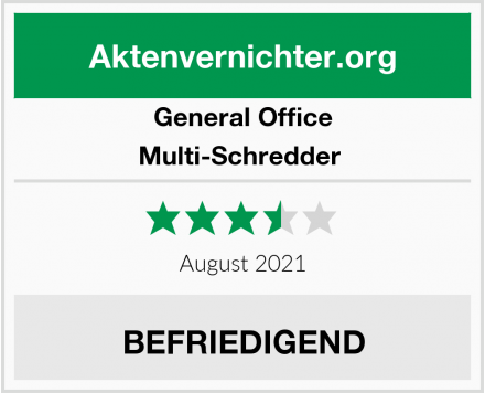 General Office Multi-Schredder  Test