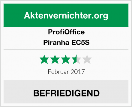 ProfiOffice Piranha EC5S Test