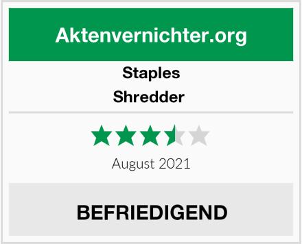 Staples Shredder  Test
