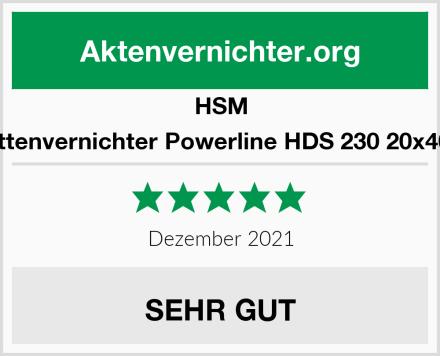 HSM Festplattenvernichter Powerline HDS 230 20x40-50mm Test