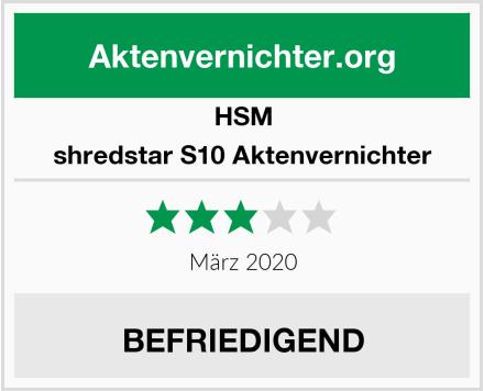 HSM shredstar S10 Aktenvernichter Test