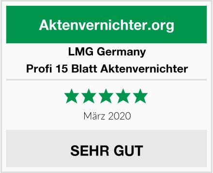 LMG Germany Profi 15 Blatt Aktenvernichter Test