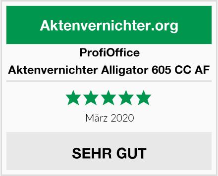 ProfiOffice Aktenvernichter Alligator 605 CC AF Test