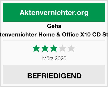 Geha Aktenvernichter Home & Office X10 CD Style Test